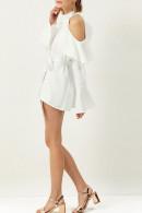 Halter Off Shoulder Ruffle Dress
