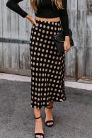 High Waist Polka Dot Skirt