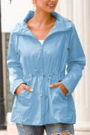 Hooded Cinched Waterproof Coat