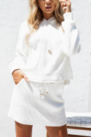 Hooded Knit Two-piece Set