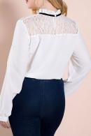 Lace Panel Bowknot Blouse
