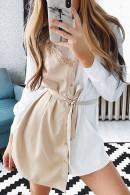 Lace Patchwork Shirt Dress