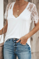 Lace Sleeves T-shirt