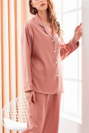 Lapel Pocket PJ Pants Set