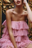 Layered Ruffle Halter Dress