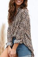 Leopard Prind Buttons Shirt