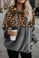 Leopard Print Fluffy Hoodie