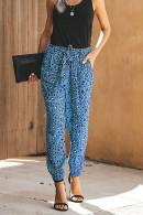 Leopard Print Loose Pants