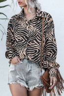 Leopard Print Loose Shirt