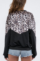 Leopard Print Panel Sweatshirt
