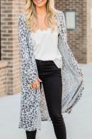 Leopard V-neck Loose Cardigan