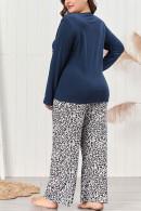 Letter & Leopard PJ Pants Set