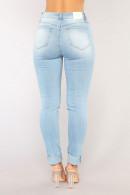 Light Sky Blue Ripped Jeans