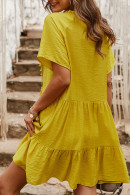 Loose Tassel Ruffled Dress