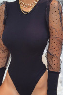 Mesh Panel Scoop Bodysuit