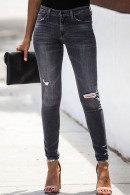 Mid Rise Ripped Jeans