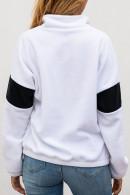 Mock-neck Half Zip Sweatshirt