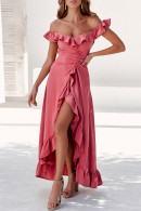 Off-the-shoulder Ruched Prom Dress