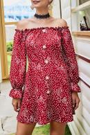 Off Shoulder Print Dress