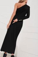One-shoulder Split Dress