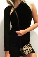 One Shoulder Asymmetric Mini Dress