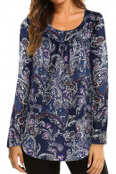 Paisley Printed Casual Blouse