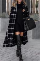 Plaid Belt  Loose Coat