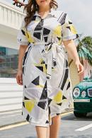 Plaid Belted Shirt Dress