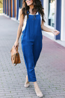 Plain Casual Straight Overalls