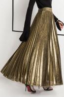 Plain Pleated Plus Size Skirt