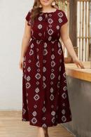 Plus Scoop Print Dress