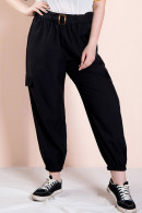 Plus Size Belted Overall