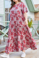 Plus Size Floral-Print Dress