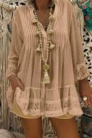 Plus Size Lace Patchwork Shirt