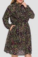 Plus Size Pockets Floral Dress