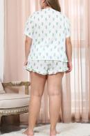 Plus Size Printed Pajama Set