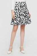 Polka Dot Pleated Short Skirt