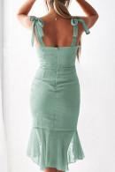 Polka Dot Ruffles Straps Dress
