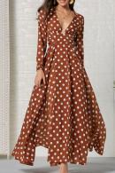 Polka Dot Slit Maxi Dress