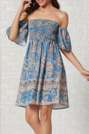 Print Off-the-shoulder Dress