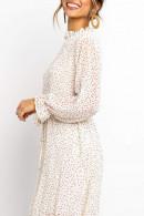 Print Scoop Chiffon Dress