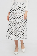 Printed Tiered Layer Skirt
