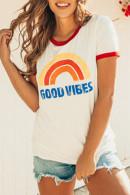 Rainbow Print Casual T-shirt
