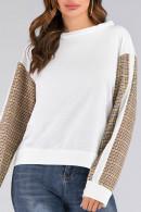 Scoop Check Patched Sweatshirt