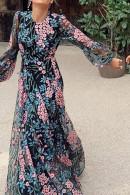 Scoop Floral Long Dress