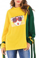 Scoop Print Bow Sweatshirt