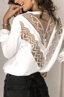See Through V-neck Blouse