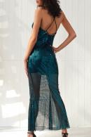 Sequin V-neck Spaghetti Straps Dress