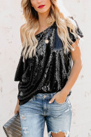 Sequins Off-the-shoulder Top