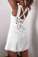 Sexy Crisscross Back Mini Dress